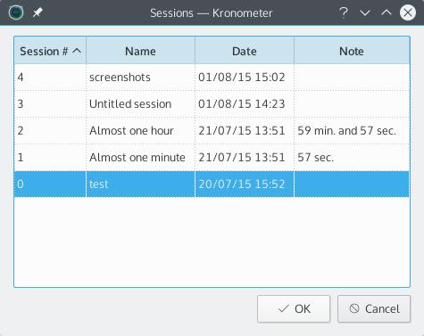 kronometer-sessions